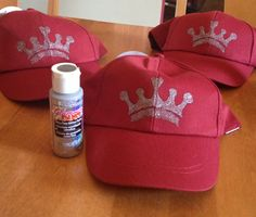 Dollar Tree hats with crown stencil for Crew Leaders