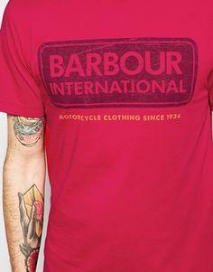 Enlarge Barbour T-Shirt with International Lozenge Logo