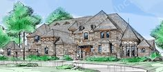 Royal Birkdale House Plan - Texas Style - Front