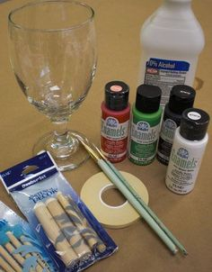 Painting Glassware 101: Useful tips for using FolkArt Enamel paint #glass