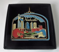 The City of the Country Music Hall Of Fame.  Great collectibles for everywhere you have lived or traveled. Give these State ornaments as gifts to family, friends and work colleagues. Memories that will last a life time of your favorite places.
