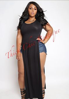 Side Slit Maxi Top, $35.00 by Thick Chic Boutique