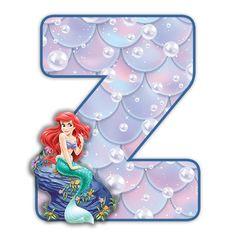 Alphabet, Ariel The Little Mermaid, Disney Scrapbook, Fairytale, Disney Princess, Halloween, Disney Characters, Mermaid, Ticket Invitation