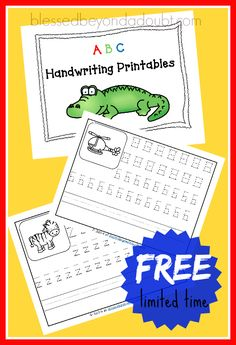 FREE printable handwriting worksheets with coloring. by Miss Trisha Learning To Write, Learning Letters, Preschool Learning, Preschool Activities, Teaching Kids, Teaching Resources, Improve Your Handwriting, Handwriting Practice, Free Printable Handwriting Worksheets