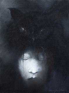 The Black Cat, illustration for 13 plus one by Edgar Allan Poe (2012) - Anne Bachelier