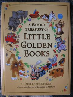 A Family Treasury of Little Golden Books HC Book VGUC 46 Stories Dust Jacket