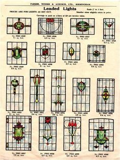 stained glass catalogue – Verre et de vitrailes Stain, 1930s House Interior, 1930s Decor, Glass Front Door, Stained Glass Designs, Glass, Glass Design, Glass Material, Vintage Interiors
