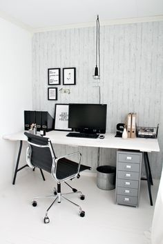 #home #office #workspace  Monochrome office via Stylizimo