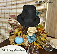Pilgrim Hat Centerpiece