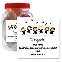 Personalised Graduation Retro Sweets