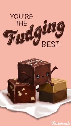The Ultimate Easy DIY Valentines Day Guide - Food Meme - Fudge Food Pun for a quick easy and clever Valentines Day treat gift idea for him The post The Ultimate Easy DIY Valentines Day Guide appeared first on Gag Dad. Funny Food Puns, Punny Puns, Cute Puns, Food Humor, It's Funny, Funny Memes, Food Meme, Corny Jokes, Flirty Puns