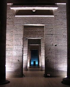 ~A view from the pronaos into the holy of holies, Temple of Isis, Philae~      Repinned from R Casals's beautiful photo