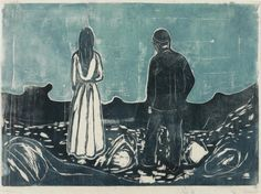 Two Humans Beings, the Lonely Ones, Edvard Munch