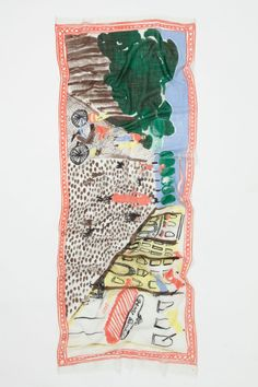 Scenic Scarf, Dog Walker - Anthropologie.com Canadian textile designer Virginia Johnson