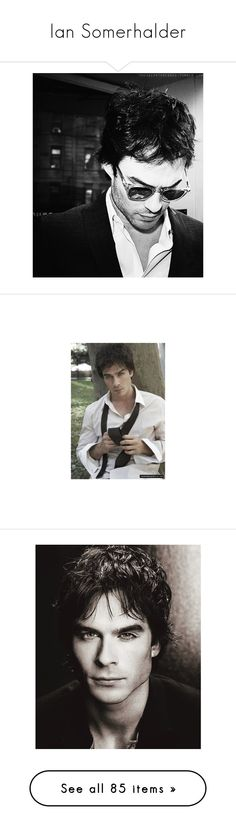 """""""Ian Somerhalder"""" by amandafelicia ❤ liked on Polyvore featuring ian somerhalder, damon salvatore, people, backgrounds, pictures, home, home decor, the vampire diaries, vampire diaries and hot guys"""
