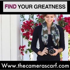 ❤️ Get out there & find your greatness with us @thecamerascarf 📷 📽️Watch our YouTube video at: https://youtu.be/KnWdENfHIks ❤️ www.thecamerascarf.com 📸   #thecamerascarf #camerascarf #camera #uniquecamerastraps #photography #forphotographers #giftideas