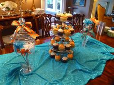 orange and turquoise wedding shower - Google Search