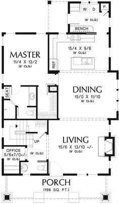 Bungalow Style House, Bungalow Homes, Bungalow House Plans, Modern Bungalow, Craftsman House Plans, Best House Plans, Dream House Plans, Modern House Plans, Small House Plans