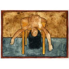 """Barcelona Art Market """"The table III""""  Technique: WATERCOLOR on paper Artist: RAMÓN HERREROS Size: paper 38,5 x 29 cm - 15.2 x 11.4 in / painting: 26 x 19 cm - 10.2 x 7.5 in #painting"""