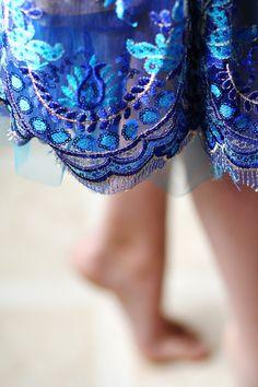Portrait of a Ballerina.Blue Dancer.Tutu In by stillsbystilwell