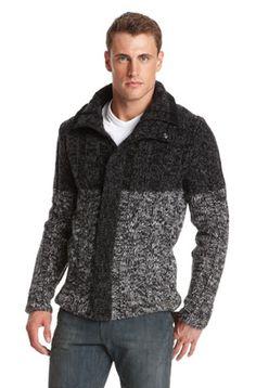 Kavino by Hugo Boss - heavy knit, greyscale, shawl collar...