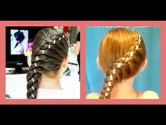 Diagonal Twist Braid With Ribbon video tutorial