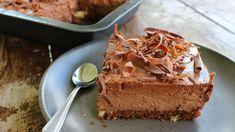 Τι θα λέγατε να φτιάξετε την πιο δροσερή & πανεύκολη Σοκολατένια πάστα ταψιού!! Υλικά - 500γρ, κέικ Για την κρέμα σοκο...
