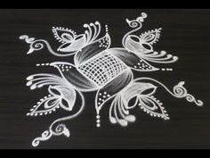 Creative new rangoli and kolam designs drawn for Diwali 2018 Rangoli Designs Latest, Rangoli Designs Flower, Rangoli Patterns, Colorful Rangoli Designs, Rangoli Designs Diwali, Rangoli Designs Images, Flower Rangoli, Beautiful Rangoli Designs, Easy Diwali Rangoli
