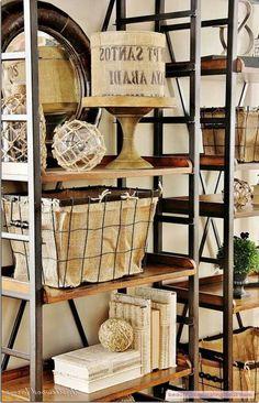 Thirty Wonderful Industrial Shelves And Racks For Any Area - http://www.beautifuldecoratingideas.com/bathroom-decorating-ideas/thirty-wonderful-industrial-shelves-and-racks-for-any-area.html