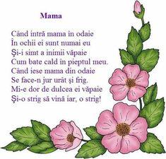 8 Martie, Kids Poems, Montessori, Printable, Songs, Education, School, Spring, Manualidades