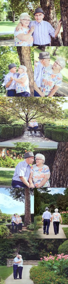 Celebrating 50 years of marriage with a photo shoot. 50th anniversary pictures. Older couple photos.