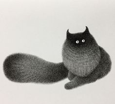 Cat illustration by Kamwei Fong #CatIllustration