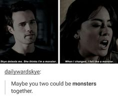 Yes they can be monsters together, maybe talk about their feelings...admit they have feelings for each other.