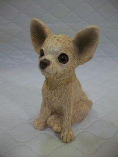 STONE CRITTERS Tan Chihuahua Figurine