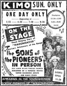 The Sons of the Pioneers in person at the Kimo Theater in Albuquerque ...