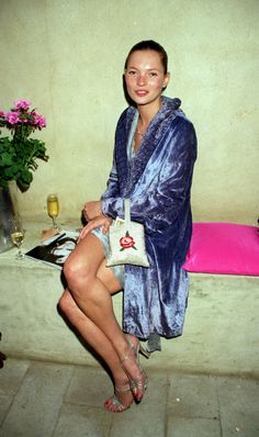Kate Moss @ a Vogue party at the Lisson Gallery of London. May, 1998. | @andwhatelse