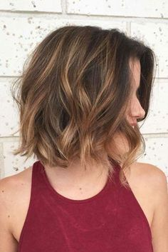 30 Brown Bob Hairstyles for Women – Long Bob Hairstyles 2019 - Schulterlange Haare Ideen Wavy Bob Hairstyles, Long Bob Haircuts, Hairstyles 2018, Short Hairstyles With Highlights, Brown Bob With Highlights, Highlighted Hairstyles, Short Wavy Hairstyles For Women, Baby Highlights, Redhead Hairstyles