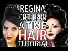 Regina Once Upon a Time Hair Tutorial - YouTube