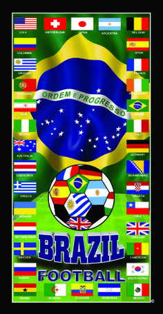 Your country Argentina is among the best 34 soccer national teams to remember a historic championship!! Soccer a beautiful game. www.brasilcopamundotowel.com