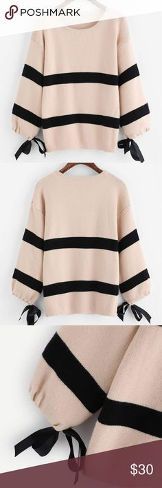 Striped Sweater New, Length 24.4 inches,  sleeve length 15.7 inches Sweaters