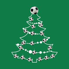 Check out this awesome 'Football+Christmas+Tree+Baubles' design on @TeePublic!