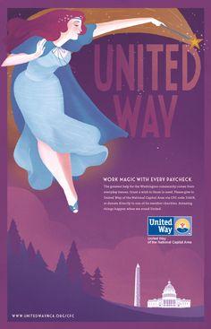 United Way Print - Jamin Hoyle Emily Carroll, United Way, Professional Development, Charity, Campaign, The Unit, Hero, Fundraising Ideas, Vogue
