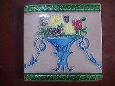vintage Japanese liberty flower pot artnouveau tile