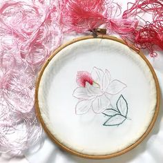 Hand Embroidery Patterns Free, Ribbon Embroidery Tutorial, Hand Embroidery Projects, Basic Embroidery Stitches, Hand Embroidery Videos, Embroidery Flowers Pattern, Creative Embroidery, Simple Embroidery, Silk Ribbon Embroidery