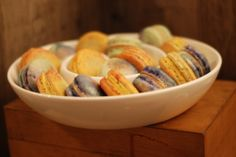 Handpainted Saffron-Orange Blossom macarons on Orange-Pistachio shells and Moroccan Spiced Coffee macarons. Pistachio Shells, Spiced Coffee, Orange Blossom, Scotch, Macarons, Moroccan, Spices, Sugar, Fruit