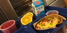 """Happy #NationalSchoolBreakfastWeek from Oyster River Child Nutrition ... we agree, this is an AWESOME deal: """"Breakfast at Oyster River Middle School is a really good deal for $1.25, with a tasty egg, cheese and veggie stuffed pocket, salsa, strawberries, oranges and cold milk. BEST DEAL IN TOWN!"""""""