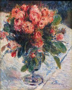 "dionyssos: "" Renoir , Rosés Mousseuses, 1890 , Musee d'Orsay """