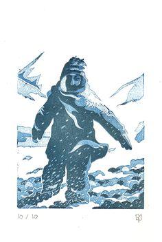 Linogravure Gregor Martin