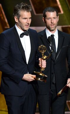 2015 Emmy Award Winners - David Benioff & D. Weiss - Outstanding Writing In A Drama Series - Games of Thrones Comedy Series, Drama Series, Game Of Thrones, David Benioff, News Media, Award Winner, Actors & Actresses, Documentaries, Awards