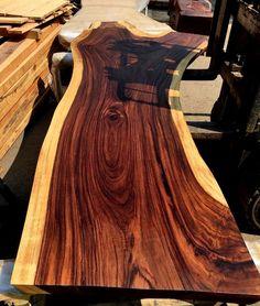 Live edge slab table handmade from natural hardwood for sale on internet at IndoGemstone.com Hardwood For Sale, Slab Table, Solid Wood Table, Live Edge Table, Wood Slab, Types Of Wood, Furniture Decor, Instagram, Woodworking